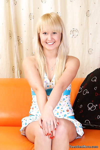 Young blond girl Mila Anal..