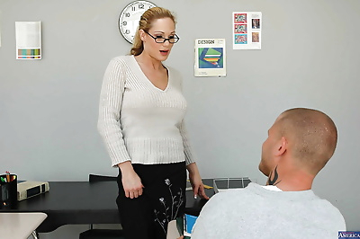 Sexy teacher has her milf..