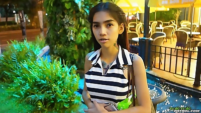 Skinny Thai girl with..