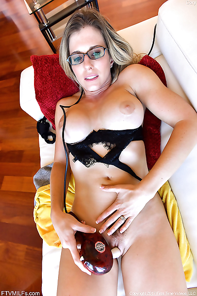 Nerdy MILF uses whatever is..