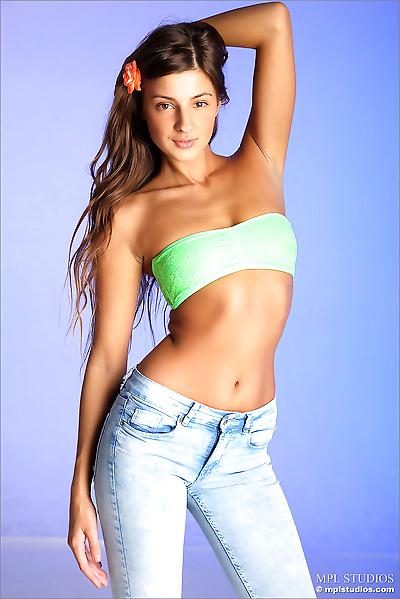 Beautiful model slowly..