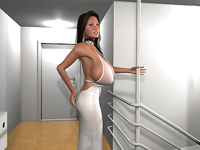 Slutty 3d brunette with..