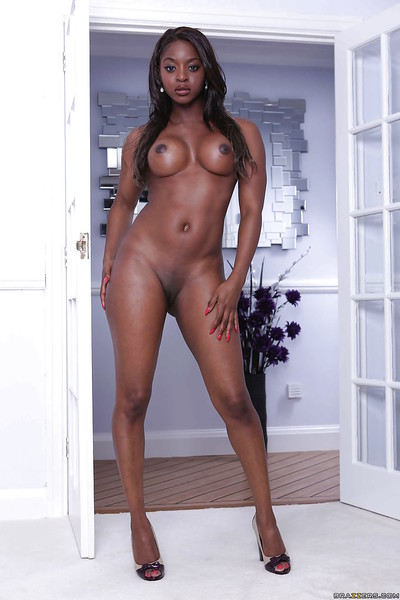 Steamy ebony MILF with big..