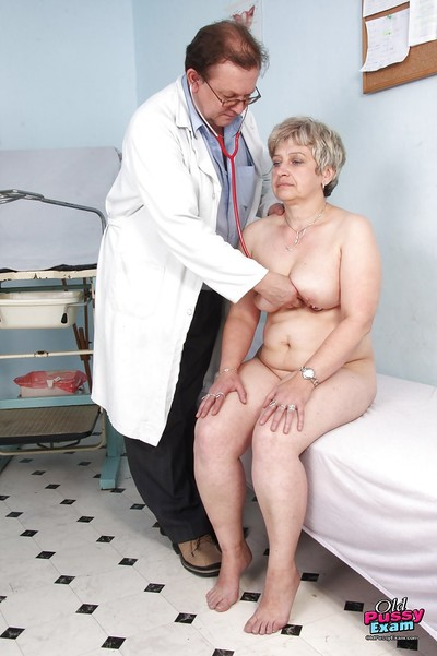 Fatty gets her mature smooth..